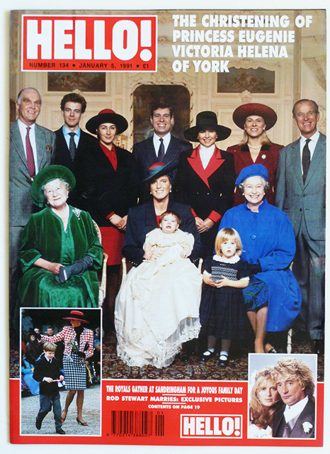 Magazine Issue 134 Princess Eugenie Christening Rod Stewart Wedding Terence Stamp Paul Newman Jan 5 1991